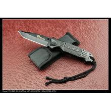 Cuchillo de aluminio de la manija que acampa (SE-143)