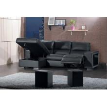 Echtes Leder Chaise Leder Sofa Elektrisch Verstellbares Sofa (707)