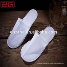 Zapatillas desechables de terciopelo / Waffle / Terry de la alta calidad del hotel Hilton del precio al por mayor