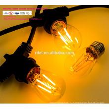 Сл-51 Водонепроницаемый 15м 15 розеток освещения строки товарного сорта Сид e26 Лампа E27 праздник светодиодные строки свет