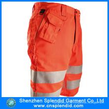 Großhandel Mens 6 Pocket Hi Vis Orange Cargo 3/4 Hosen