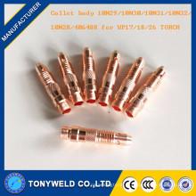 Peças sobressalentes WP26 tig gun 10N32 Corpo de colar 2.4 mm