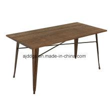 Mesa de Metal de mesa Base de madera de hierro