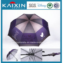 Polyester Coated Silver Golf Straight Umbrella