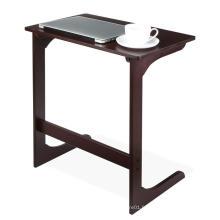 Petite Table Basse en Bambou Noir avec Ottomane Moderne