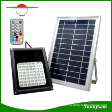 56 LEDs IP65 Waterproof Solar Floodlight Remote Control Color Changing Landscape Patio Jardín Decorativo Spotlight
