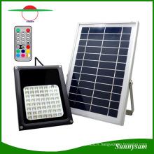 56 LED IP65 Étanche Solaire Projecteur Télécommande Changement de Couleur Paysage Jardin Jardin Spotlight Décoratif