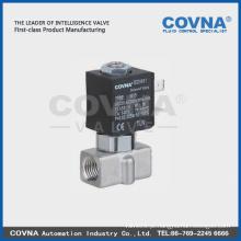 AC 220V Guia Tpye Micro válvula de solenóide de aço inoxidável