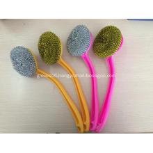 Long handle steel wire cleaning sponge kitchen item