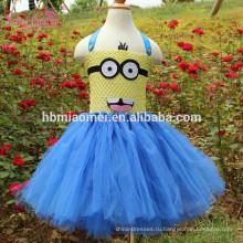 Милые Миньоны Миньон Косплей Девушки Платье Девушки Туту Платье Костюм Хэллоуин Рождество Вечеринку Принцесса Тюль Платья