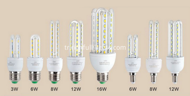 led bulbs u shape