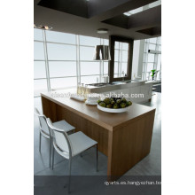 Larga vida de la fábrica directamente económico gabinete de cocina de melamina, diseño de la cocina india