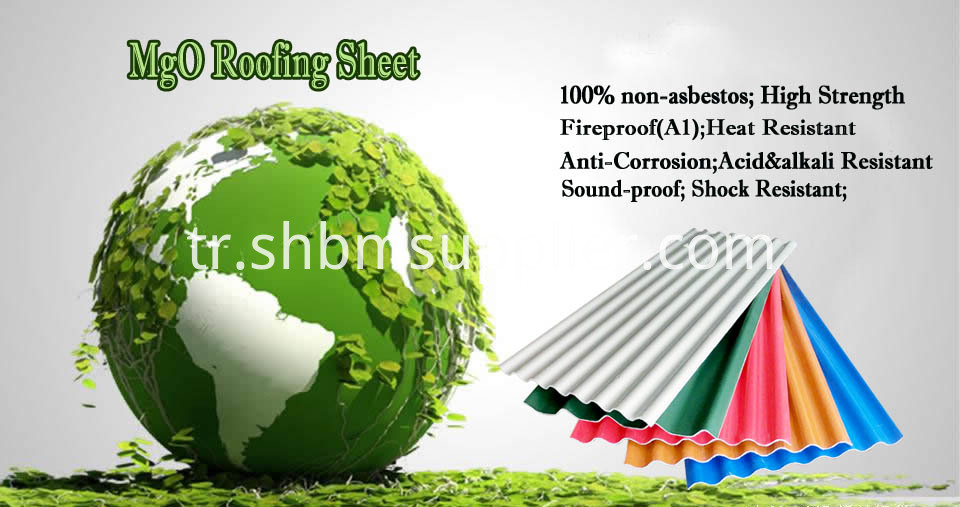 Impact-Resistant Anti-moss Waterproof MgO Roof Sheet