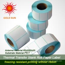 Etiqueta térmica autoadesiva quente do papel de U2cmark para imprimir (TPL-018)