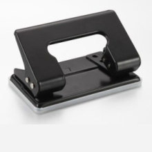 Black Steel Two Hole Punch
