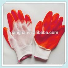 Guante industrial del látex de la fabricación de la fábrica de 2014 China, guantes de seguridad de goma del látex de trabajo anaranjado barato