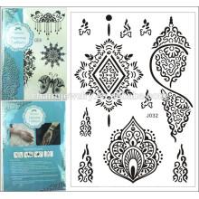 Tattoo chalker corpo arte preto Lace Design Tattoo verão estilo Etiqueta temporária Body Art j032