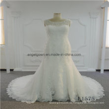 Meerjungfrau ärmellose Spitze hohe Qualität Brautkleid 2017