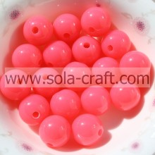 Factory Direct Ball Charm Nice 6MM Acrylic Beads With Bright Pink Color