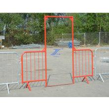 Контроль толпы временный забор и ворота