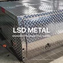 Caja de herramientas de aluminio Ute Canopy de 2.4 metros con patas de gato y portaequipajes