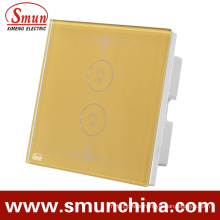 2 Key Touch Swithes Golden, Wall Remote Control Switch