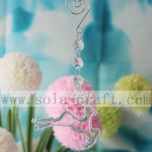 17CM Lovely Deer Shape Chandelier Crystal Prisms Lamp Pendants