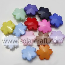 Cheap And Assorted Color Plastic Acrylic Solid Artificial Bead With Snowflakes Shape