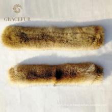 Cachecol de caxemira com guarnição de pele para casaco / parrka / gola