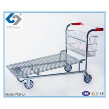 Four Wheels Heavy-Duty Cargo Trolleys for Warehouse
