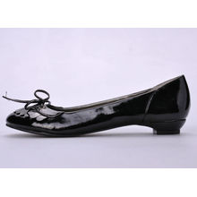 Women / Ladies Flat Pumps Shoes , Custom Spring Black For Shopping