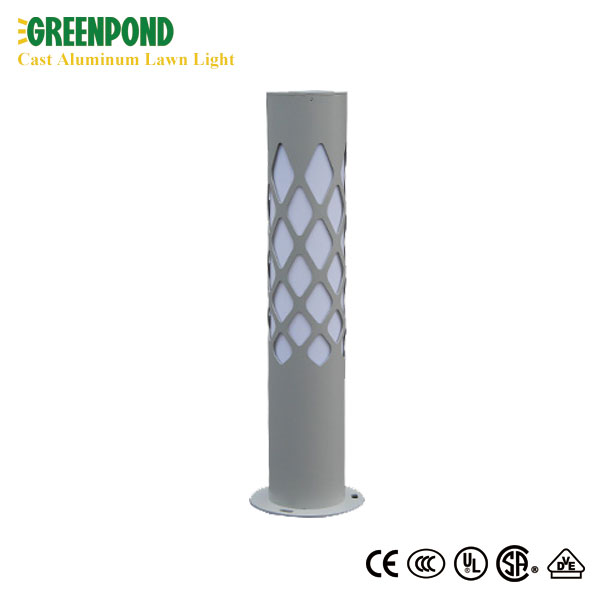 Rhombus Patterned Aluminum Lawn Lamp