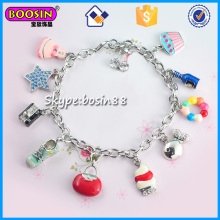 China Factory Silver Color Custom Charm Bracelet Jewelry Wholesale