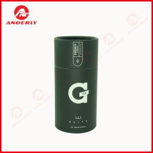 Electronic Cigarrete Packaging Black Kraft Cardboard Tube