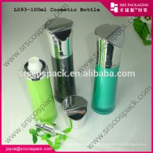 Chine 100ml bouteille de lotion de grande capacité pour la crème pour le corps Bouteille acrylique Bouteille bleue
