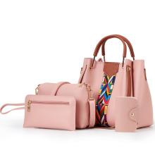 Fashion Ladies Handbags 4 in 1 Set Bolsos De Mujer Sac a Main Girls Hand Bags Wallet Coin Purses and Handbags for Women