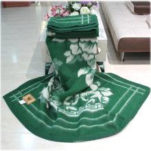 Couvertures 100% de jacquard de laine de Yak / vêtement de cachemire / textile de laine / tissu / literie