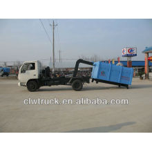 DFAC roll off lixo caminhão de lixo, 4 m3 caminhão de lixo