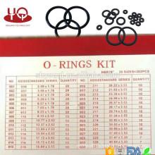 Paquete de hardware NBR 70 Juego de anillo tórico Sistema tórico de anillo tórico AS568 / métrico / JIS Juego de reparación de orquesta NBR