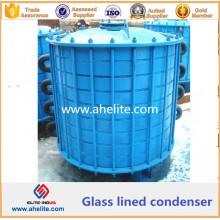 Condensateur doublé en verre en acier doux