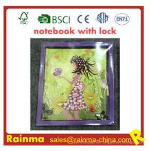 Notizbuch mit Schloss für Kinderbriefpapier Geschenk