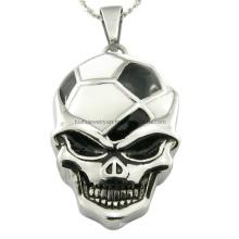 Crânio de aço do clube do futebol pingentes