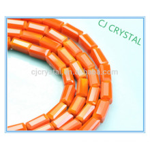 jewelry making glass beads,machine cut beads rectangle