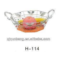 Multilateral butterfly rattan fruit basket