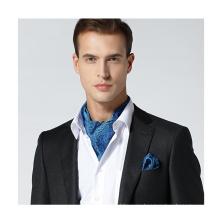 Бизнес Шелковый Аскот галстук с мода Мужской платок Аскот набор шелк