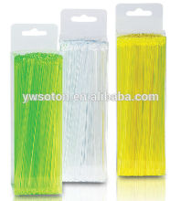 party pick/fruit pick/Wholesale Plastic Assorted Bar Drink Cocktail Stirrers/colorful disposable plastic stirrer