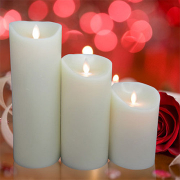 Moving wick flameless led candles