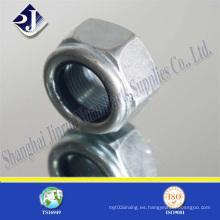 DIN982 tuerca hexagonal con inserción de nylon