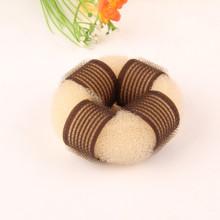 Blonde Velcro Knitted Nylon Hair Donut (BUN-23)