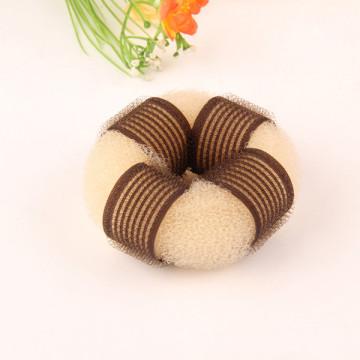Blond Velcro Knitted Nylon Hair Donut (BUN-23)